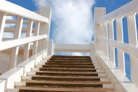 white-stairway